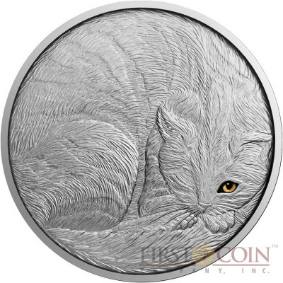 Niue Island THE CAT series ANIMALS $5 Silver coin 2016 Hand made Antique finish 2 oz