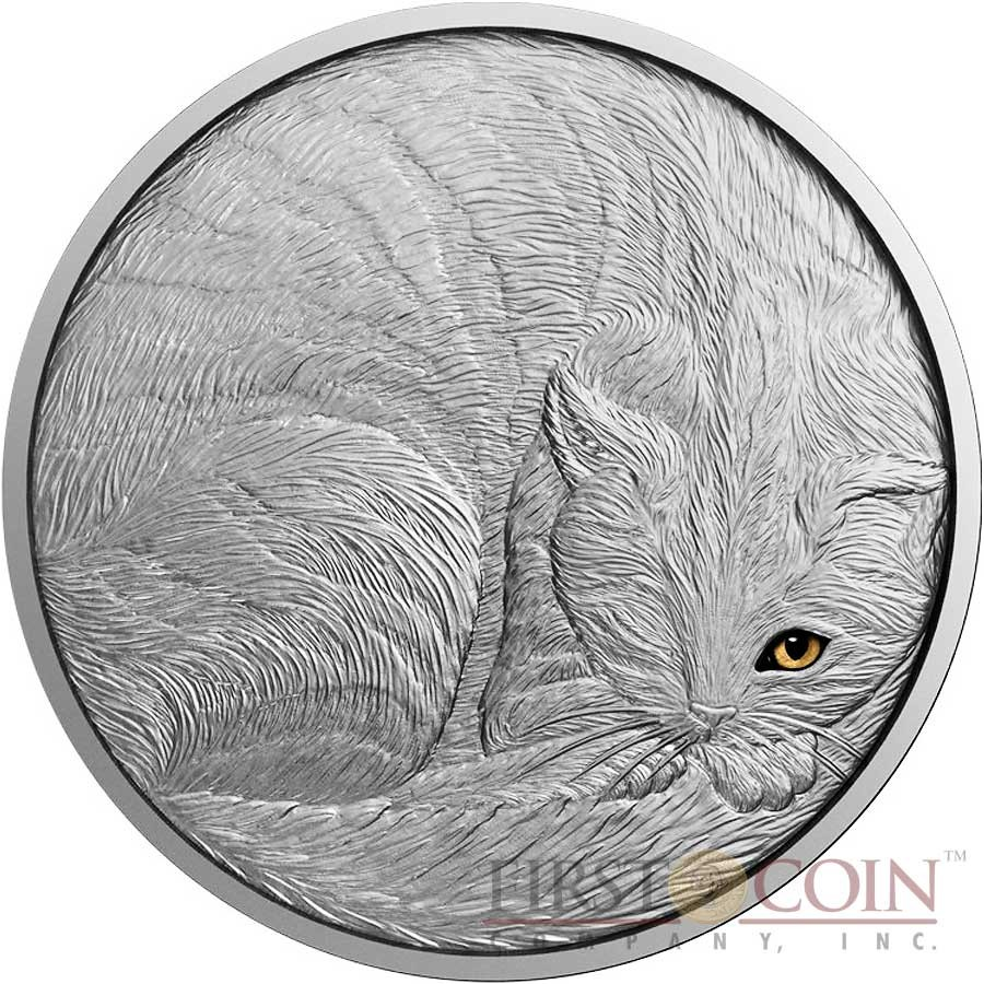 Niue Island The Cat Series Animals 5 Silver Coin 2016