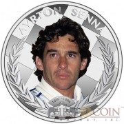 Niue Island 20th anniversary of AYRTON SENNA's death FORMULA 1 Racer $2 Colored Silver Coin 2014 Proof 1 oz