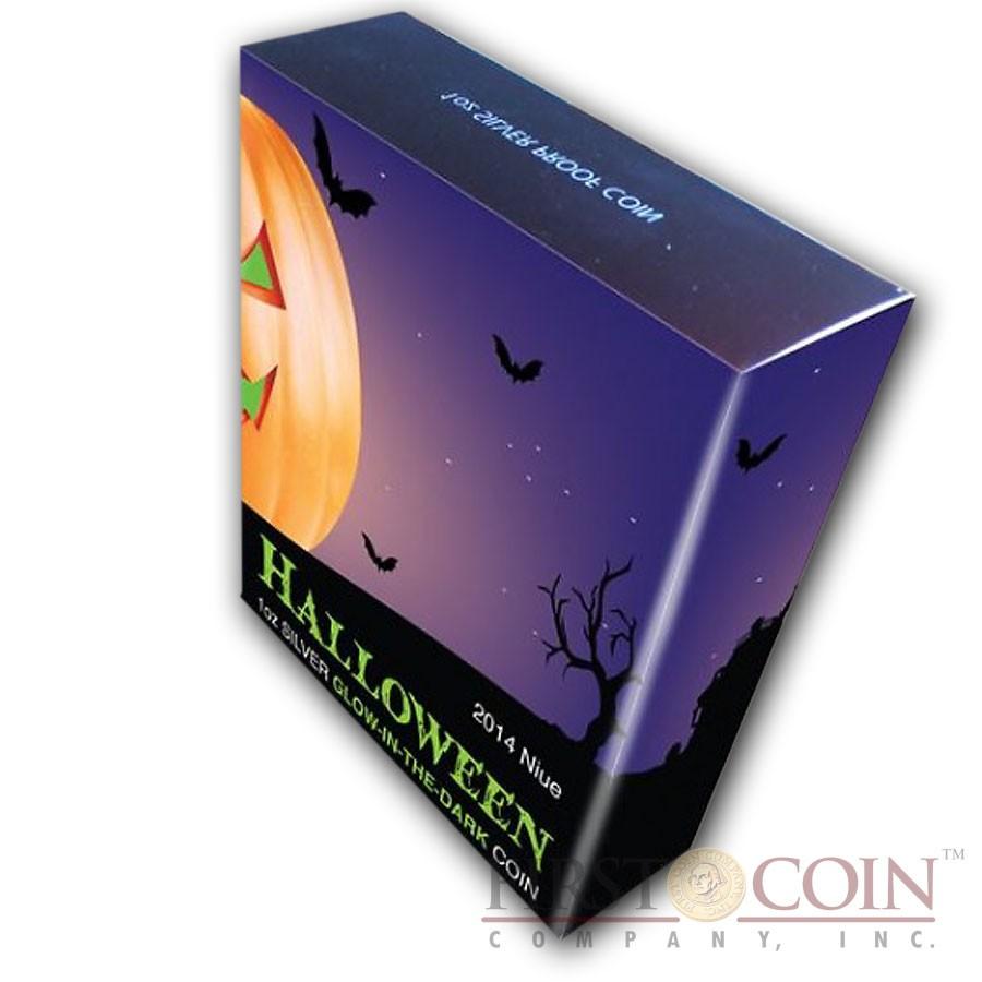 Niue Island Halloween Silver Coin 2 Jack O Lantern 1oz