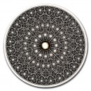 Fiji GOTHIC series MANDALA ART Silver coin $10 Antique finish 2019 Ultra High Relief 3 oz