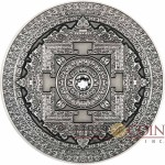 Fiji KALACHAKRA Silver coin MANDALA ART series $10 Antique finish 2015 Ultra High Relief 3 oz