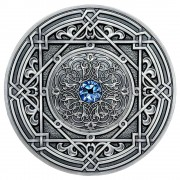 Fiji MORESQUE series MANDALA ART Silver coin $10 Antique finish 2018 Ultra High Relief 3 oz