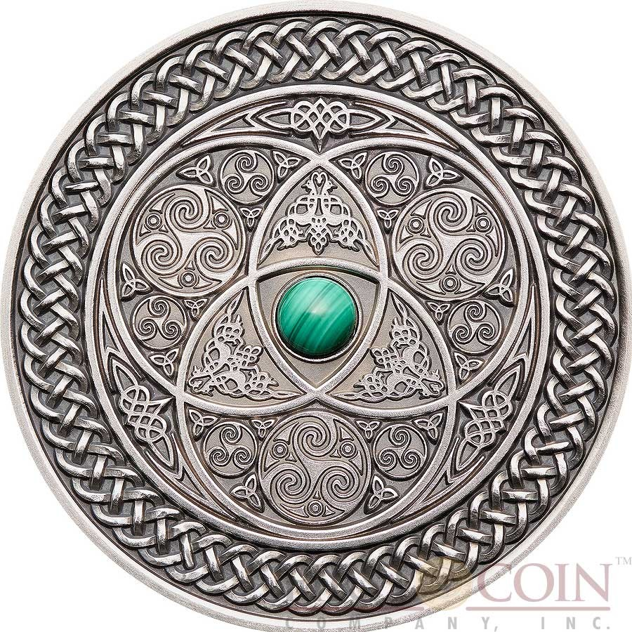 Fiji Celtic Series Mandala Art Silver Coin 10 Antique