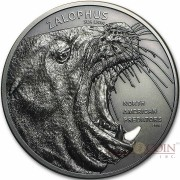 Cook Islands SEA LION series NORTH AMERICAN PREDATORS Silver coin 2016 Antique finish High relief 2 oz