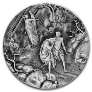 Niue Island ADAM AND EVE series BIBLICAL Silver coin $2 High relief 2016 Antique finish 2 oz