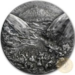 Niue Island EXODUS series BIBLICAL Silver coin $2 High relief 2015 Antique finish 2 oz