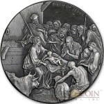 Niue Island THE NATIVITY THE BIRTH OF JESUS series BIBLICAL Silver coin $2 High relief 2016 Antique finish 2 oz