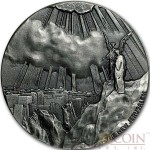 Niue Island NEW JERUSALEM series BIBLICAL Silver coin $2 High relief 2015 Antique finish 2 oz