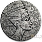 Republic of Chad NEFERTITI series EGYPTIAN RELIC Silver coin 3000 Francs 2017 Antique finish ULTRA THICK 5 oz