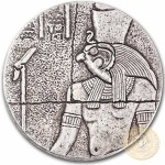 Republic of Chad HORUS series EGYPTIAN RELIC Silver coin 1000 Francs 2016 Antique finish 2 oz