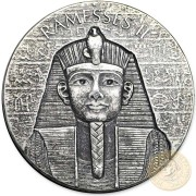 Republic of Chad RAMESSES II series EGYPTIAN RELIC Silver coin 1000 Francs 2017 Antique finish 2 oz
