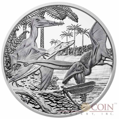 "Austria Jurassic period - Life in the Air ""Prehistoric Life"" Series 20 Euro Silver coin 2013 Proof"