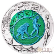 Austria (R) EVOLUTION THE DAWN OF A NEW ERA series Silver-Niobium coin 25 Euro 2014