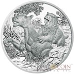 "Austria Tertiary period - Life on the Earth ""Prehistoric Life"" Series 20 Euro Silver Coin 2014 Proof"