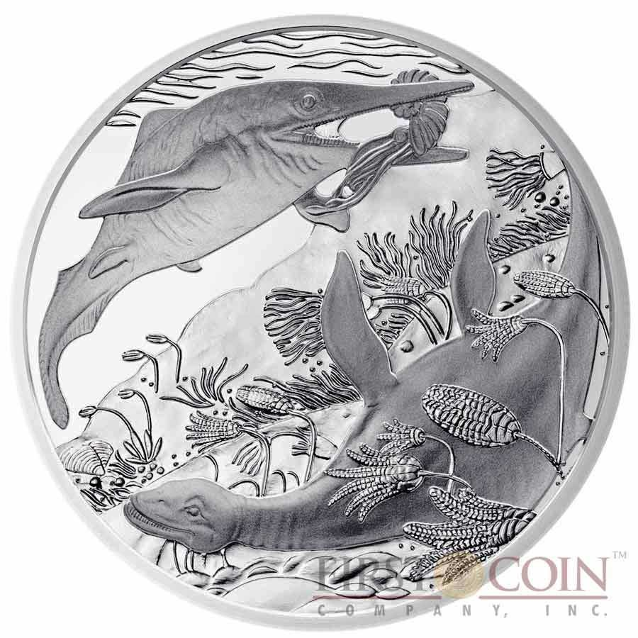 "Austria Triassic period - Life in the Water ""Prehistoric Life"" Series 20 Euro Silver coin 2013 Proof"