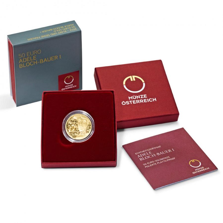 Austria ADELE BLOCH-BAUER by GUSTAV KLIMT series KLIMT AND HIS WOMEN Gold coin €50 Euro Proof 2012