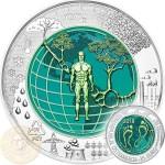 Austria ANTHROPOCENE ANTHROPOZAN series Silver-Niobium coin 25 Euro 2018