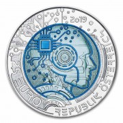 Austria ARTIFICIAL INTELLIGENCE series Silver-Niobium coin 25 Euro 2019