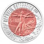 Austria ROBOTIK series Silver-Niobium coin 25 Euro 2011