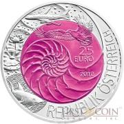 Austria BIONIK series Silver-Niobium coin 25 Euro 2012