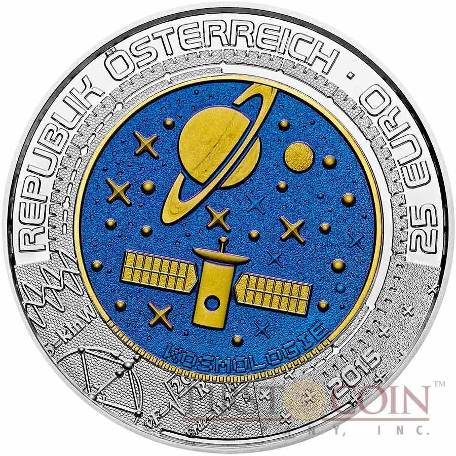 Austria COSMOLOGY series Silver-Niobium coin 25 Euro 2015
