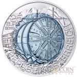 Austria TUNNEL CONSTRUCTION series Silver-Niobium coin 25 Euro 2013