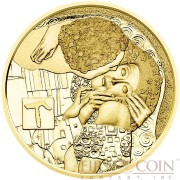 Austria THE KISS by GUSTAV KLIMT series KLIMT AND HIS WOMEN Gold coin €50 Euro Proof 2016