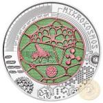 Austria MICROCOSM MIKROKOSMOS BUTTERFLY series Silver-Niobium coin 25 Euro 2017