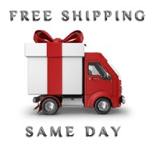 Same day shipping for items in stock