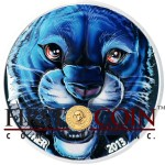 Ivory Coast The Black Panther 1,000 Francs Colored Silver coin 1 oz Ultra High Relief Antique Finish 2013