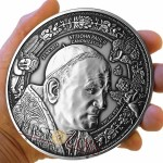Burkina Faso Canonization John Paul II Silver coin 10000 Francs 1 Kilo/kg Ultra High Relief Handmade Antique Finish 2014