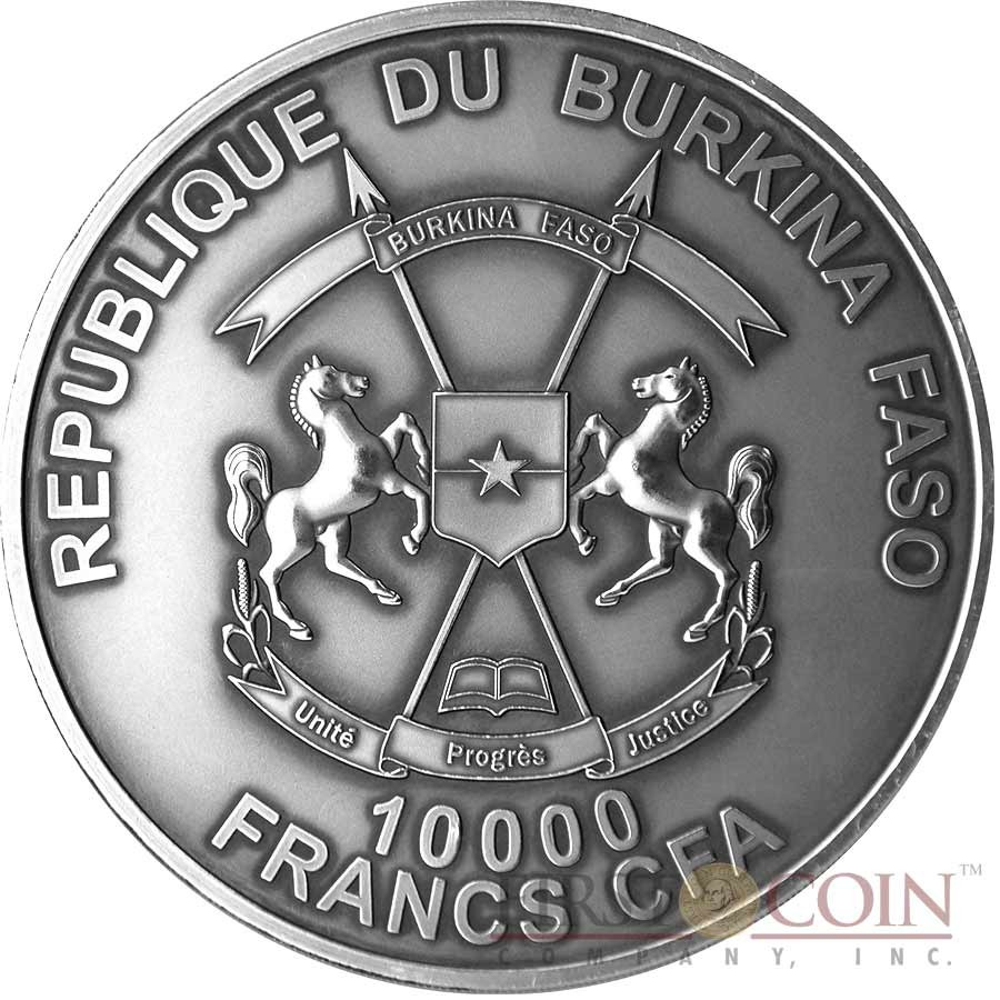 Burkina Faso MARY MOTHER OF JESUS Silver coin 10000 Francs Ultra High Relief Handmade 2015 Antique Finish 1 Kilo/kg