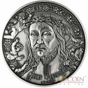Burkina Faso Jesus Nazarenus Silver coin 1000 Francs 1 oz Ultra High Relief Handmade Antique Finish 2014