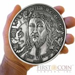 Burkina Faso Jesus Nazarenus Silver coin 10000 Francs 1 Kilo/kg Ultra High Relief Handmade Antique Finish 2014