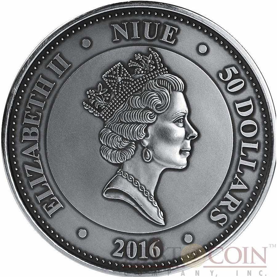 Niue Island Mars Martian Meteorite Nwa 6963 Silver Coin