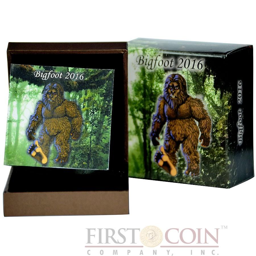 Burkina Faso BIGFOOT 1000 CFA Francs Silver Coin High Relief 2016 Antique Finish Premium 1 oz