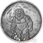 Burkina Faso BIGFOOT 1000 CFA Francs Silver Coin High Relief 2016 Antique Finish Premium 1 oz