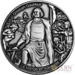 Burkina Faso CHRISTOPHER COLUMBUS LE MONDE EN AVENTURES 1000 Francs Silver coin 2016 High relief Handmade Antique Finish 1 oz