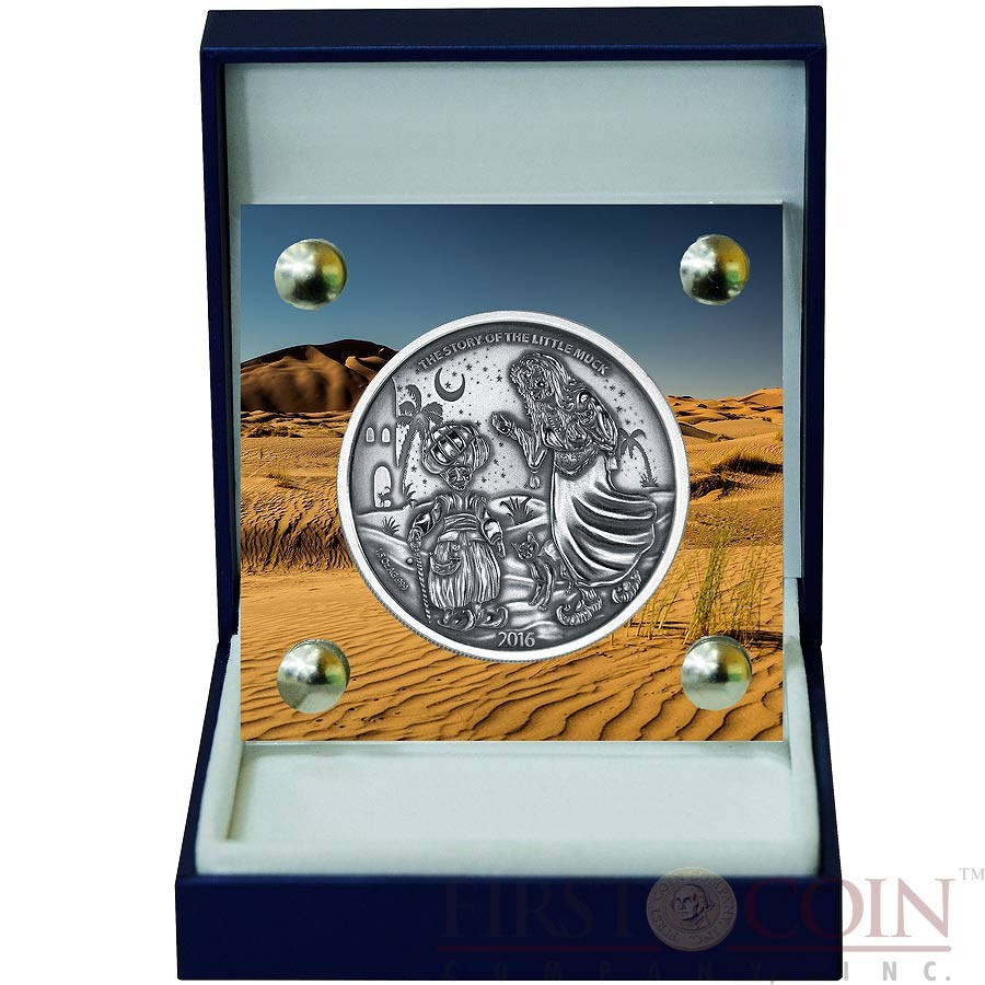 Burkina Faso THE OLD LADY series LITTLE MUCK 1500 CFA Francs Silver Coin High Relief 2016 Antique Finish Premium 1.5 oz