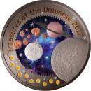 Republic of Ghana MOON series TREASURES OF THE UNIVERSE 5 GH₵ Cedis 2017 Silver Coin 10 Pallamants inlay 1 oz