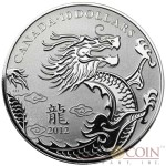 Canada YEAR OF THE DRAGON Lunar series $10 Silver coin 2012