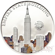 Palau EMPIRE STATE BUILDING series WORLD OF WONDERS Silver Coin $5 High Quality Printing High Details 2013 Proof