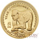 Mongolia YEAR OF THE MONKEY Series LUNAR Gold Coin 1000 Togrog  2016 Proof