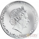 Cook Islands HAPPY 90th BIRTHDAY QUEEN ELIZABETH II Silver Coin $1 Proof 2016