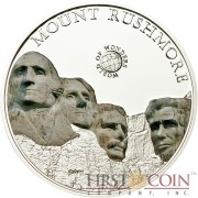 Palau MOUNT RUSHMORE SOUTH DAKOTA series WORLD OF WONDERS Silver Coin $5 High Quality Printing High Details 2011 Proof