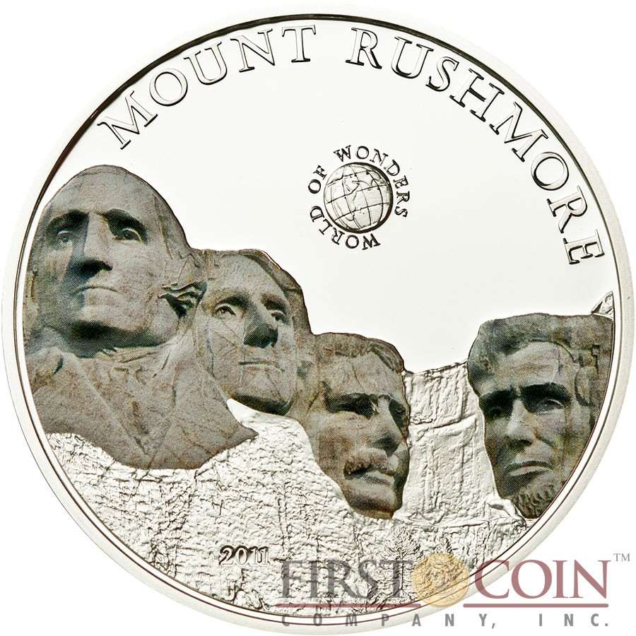 Coins & Paper Money 2011 Mount Rushmore Silver Proof Republic Of Palau Coin Coins: World