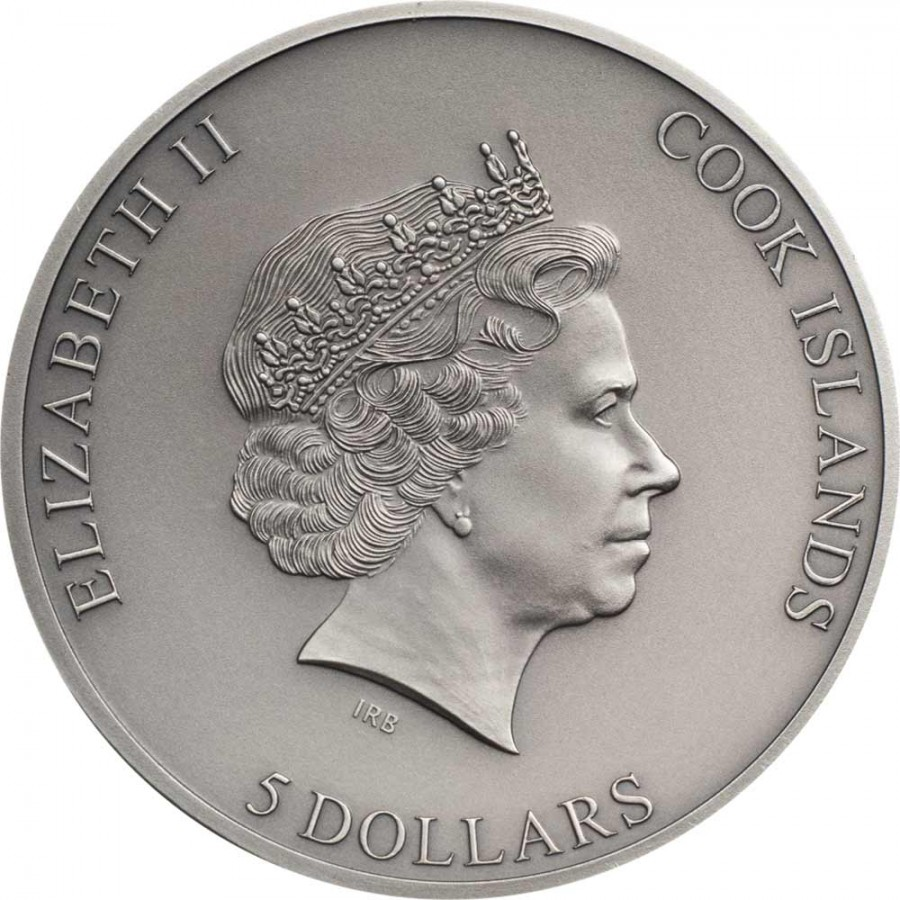 Cook Islands STILL TRAPPED (hands) $5 Silver Coin 2020 Antique finish Smartminting 1 oz