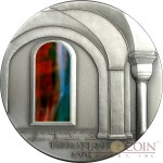 Liberia 2nd Edition ROMANESQUE series TIFFANY ART Silver coin $10 Antique finish 2005 Ultra High Relief 2 oz