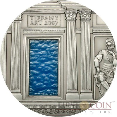Palau 3rd Edition RENAISSANCE series TIFFANY ART Silver coin $10 Antique finish 2007 Ultra High Relief 2 oz